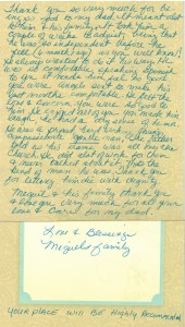 Miguels Letter
